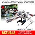 Lepin 05039 1586 unids Genuino Nueva Serie Star El x-wing Rojo Cinco Starfighter Conjunto de Bloques de Construcción Ladrillos juguetes 10240