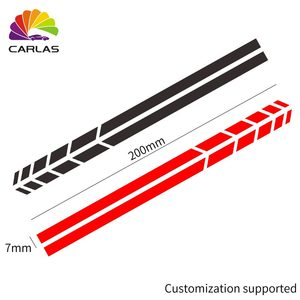 Image 4 - Car Styling Reflective Waterproof Sticker Rearview Side Mirror Decal Stripe DIY Exterior Accessories For Toyota BMW BENZ