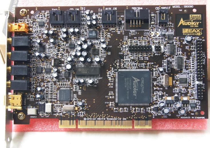 Original disassemble,For Creative Sound Blaster Audigy SB0090 PCI 5.1 Sound Card,100% working good цена