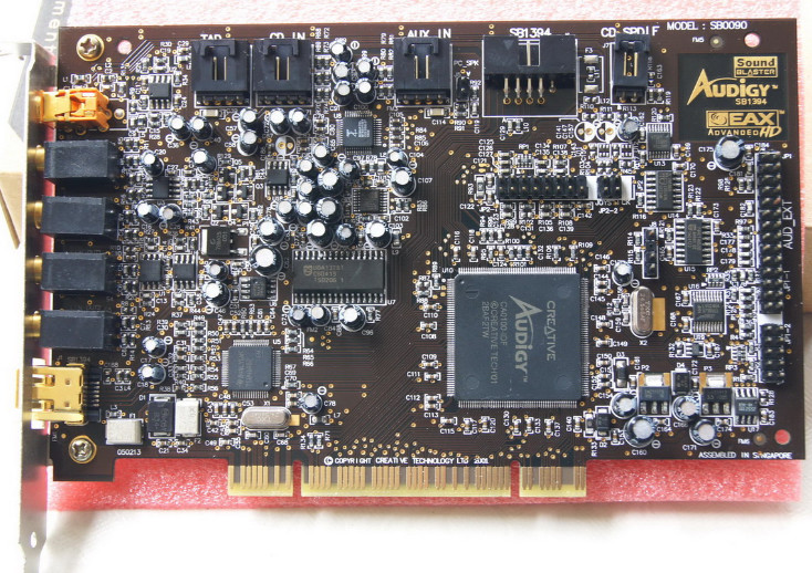 Original disassemble,For Creative Sound Blaster Audigy SB0090 PCI 5.1 Sound Card,100% working good