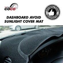 Приборной панели автомобиля избегайте солнечных лучей мат pad авто протектор черный охватывает ковры панель блок солнца зонтики для honda city 2008-2013