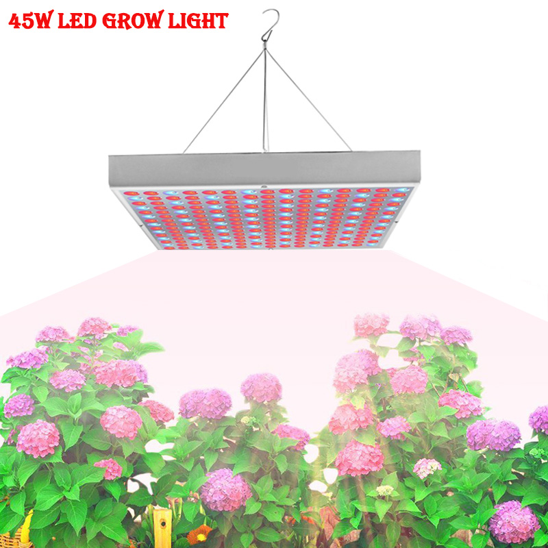цена на 45W LED Plant Grow Panel Light AC85-265V SMD3528 Red+Blue For Flowering Plant Indoor Grow Box Hydroponics Lamps