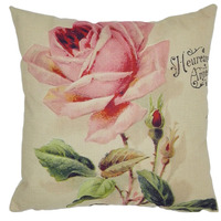 New Retro Vintage Green Butterfly Rose Flower Home Decorative Cotton Linen Pillow Case Cushion Cover 45*45 CM
