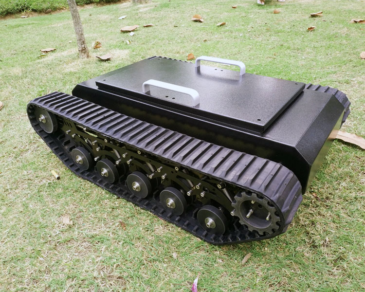 TR500 Smart Tank Car Chassis Stainless steel Frame Suspension system 80mm rubber caterpillar 50kg High load