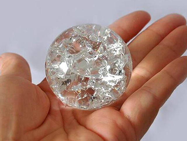Bola de hielo de cristal de 5 cm bolas de cuarzo mármol esfera mágica Fengshui ornamentos fuente de agua rocosa Bonsai bola decoración para el hogar