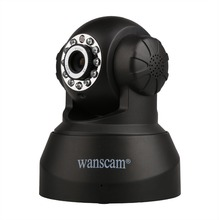 Wanscam HW0040 WiFi Wireless Security Mini IR Cut P2P Camera Indoor IP IR Night Vision Cam Two-way Audio Motion Detection BLACK