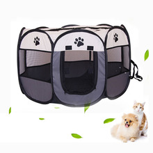 Dog Delivery Room Pet Park Portable Folding House Cage Cat Tent Waterproof Grabresistant Fence Octagonal Space Playpen