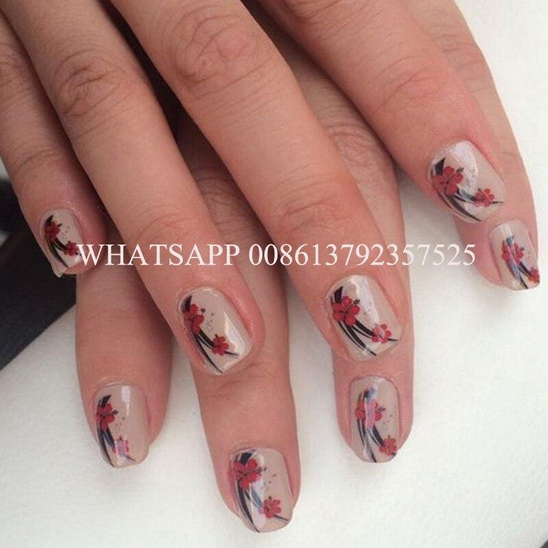 5 nails printing a time artificial nails printing professsional nail ...