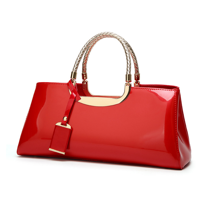 Amberler High Quality Patent Leather Handbags Women New Fashion Ladies Shoulder Bag Fashion Evening Bag Female Casual Tote Bags fashion new handbags high quality pu leather women bag candy colored ladies styling handbag wild casual shoulder bag female bag