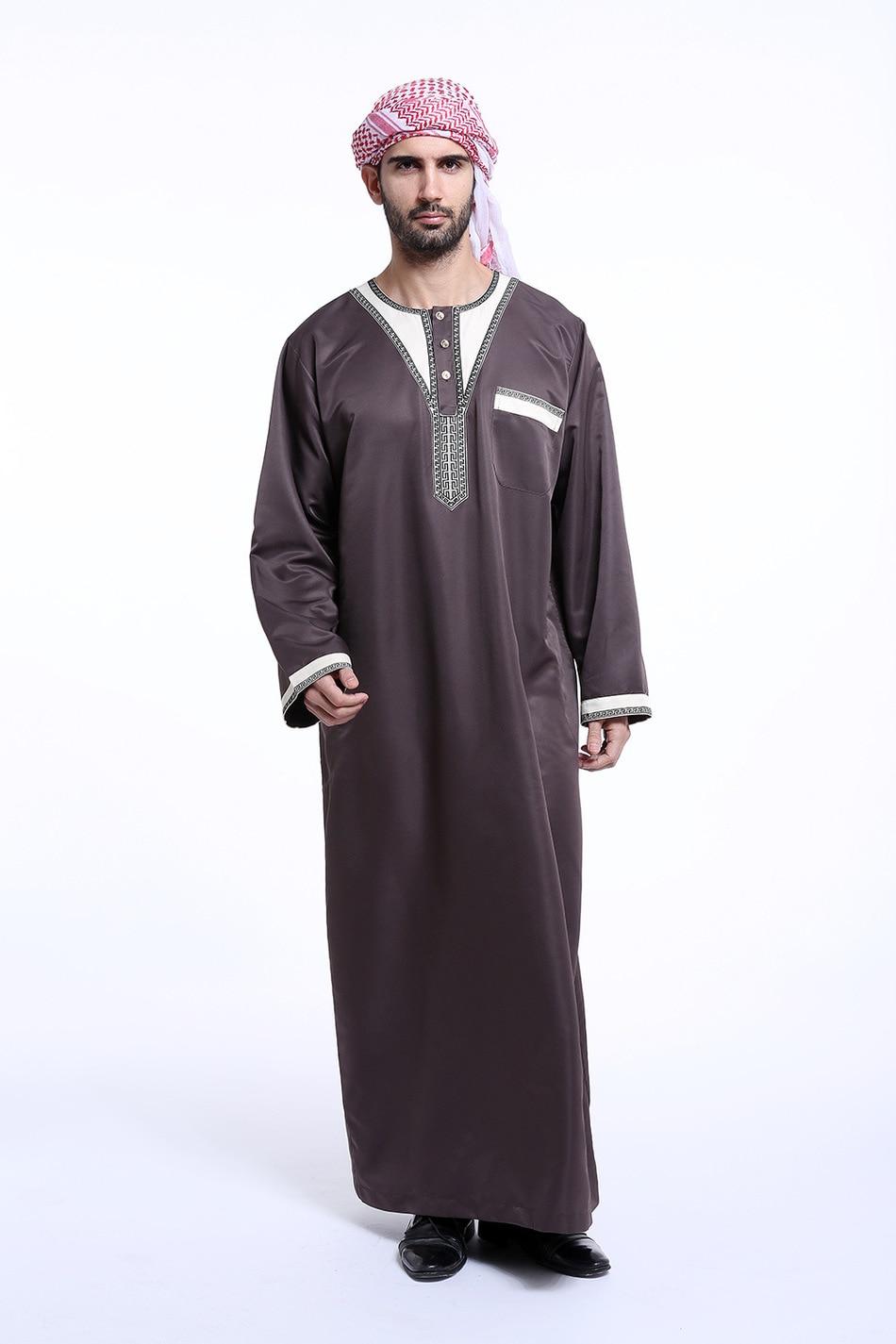 Fashion Kaftan Jubba Thobe Abaya Arab Muslim Islamic ...