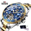 HAIQIN Топ бренд класса люкс Tourbillon механические часы для мужчин бизнес нержавеющая сталь мужские часы военные часы Relogio Masculino