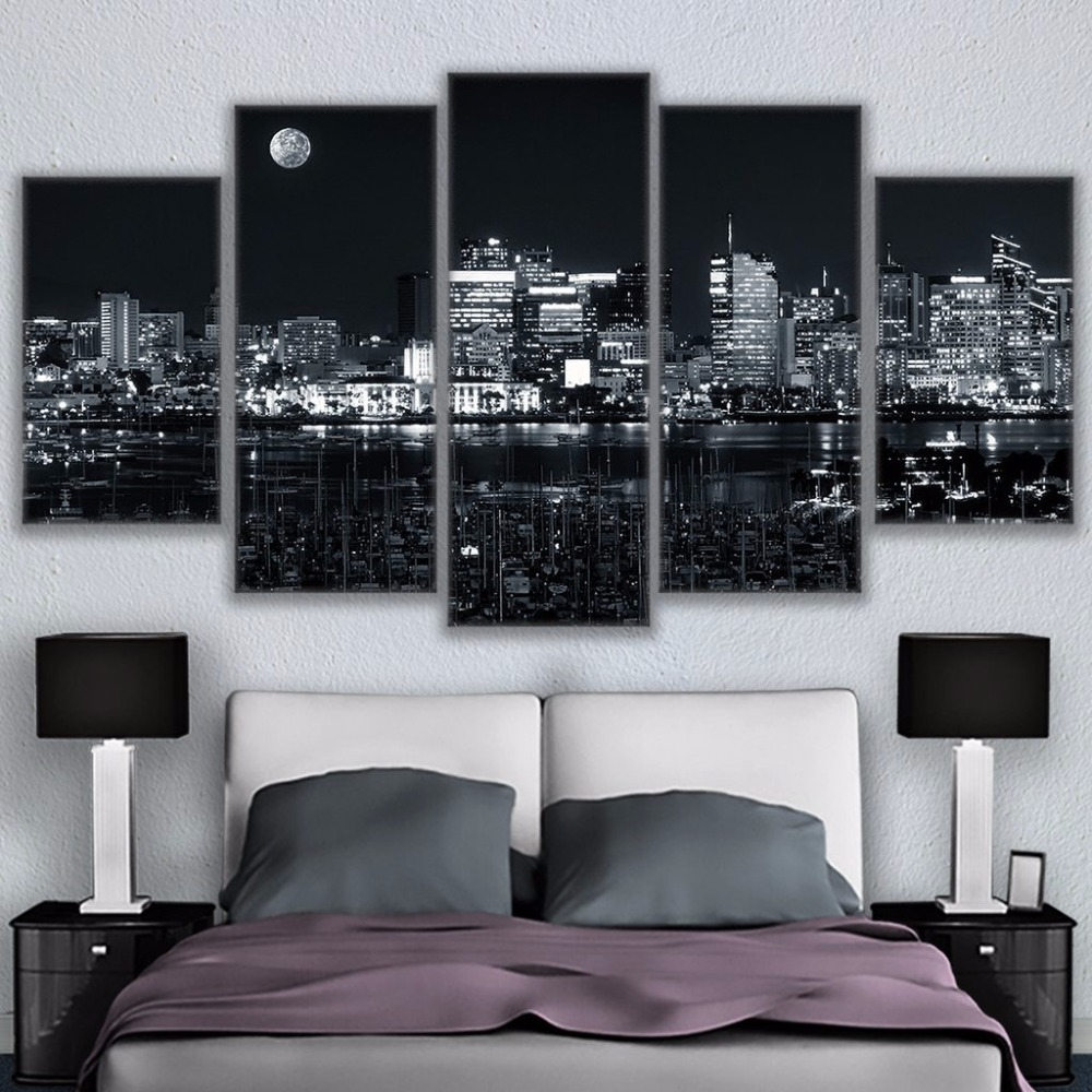 Canvas Home Decor For Living Room Wall Art Pictures 5