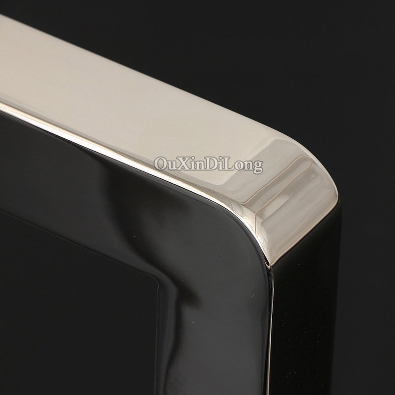 High Quality 304 Stainless Steel Frameless Shower Bathroom Glass Door Handles Pull Push Handles Glass Mount Chrome in Door Handles from Home Improvement