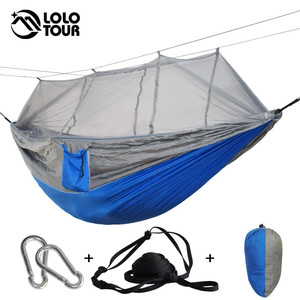 Image 4 - Outdoor Mosquito Net Hammock High Strength Can Hold 200kg Netting Hamac Hanging Chair Sleeping Tree Bed Hunting Climbing Hamak