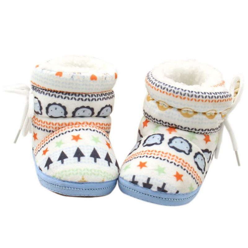 New Winter Warm Baby Booties Infants Girl Boy Soft Crib Shoes Newborn Snowshoes