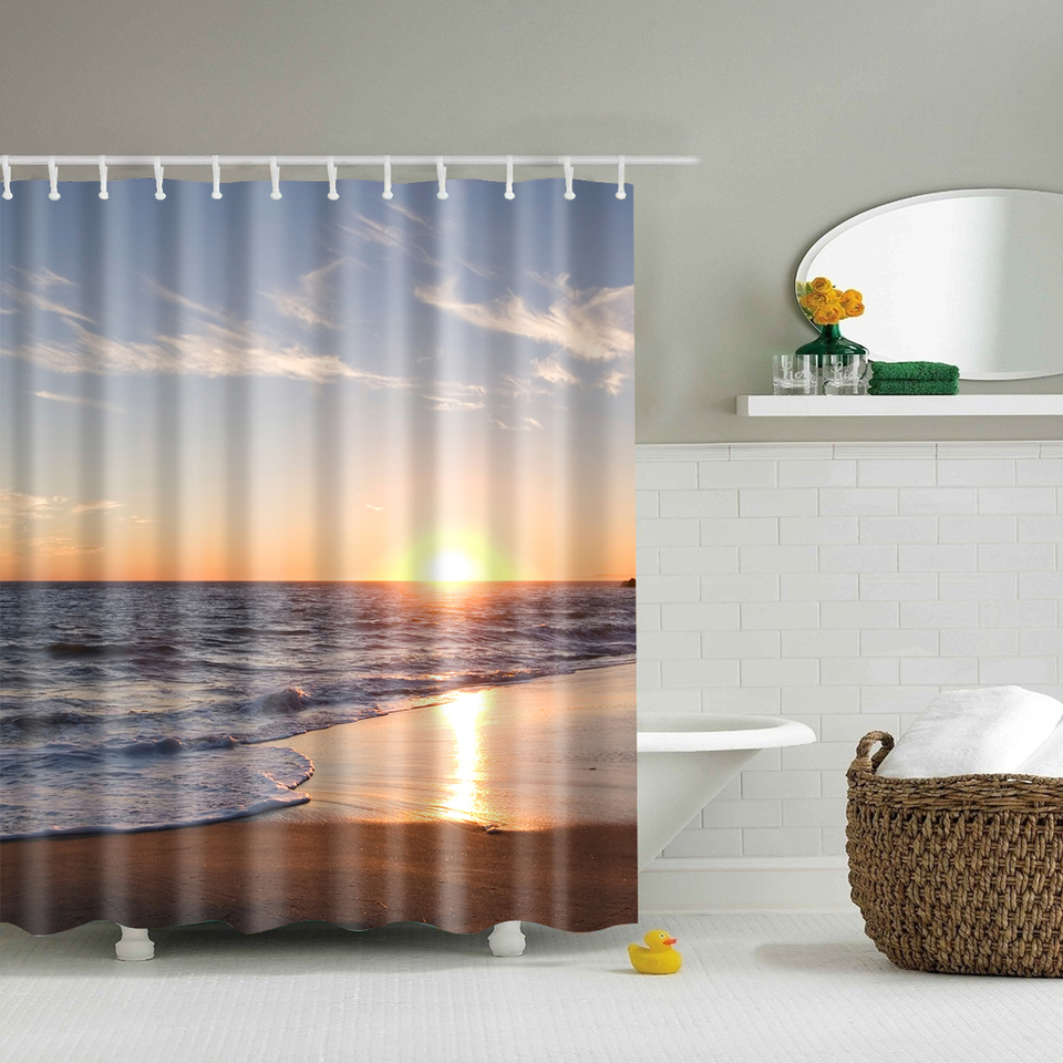 svetanya tramonto tende da doccia impermeabile bagno in poliestere con ganci 150x180 cm180x180 cm
