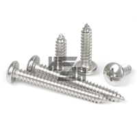 10x Manufacturer Wholesale M2.2 M2.6 M3 M4 M5 M6 Round Head Screw 304 Stainless Steel Self Tapping Wood Screw.