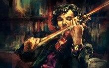 Spielen Violine Benutzerdefinierte Besten Nizza Stilvolle Klassik Home Decor Modische Mondern Poster Größe (30×45 cm) Wandaufkleber Kostenloser Versand