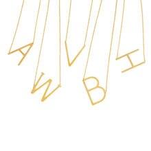 Модное ожерелье с подвеской 26 инициальных букв золотого цвета