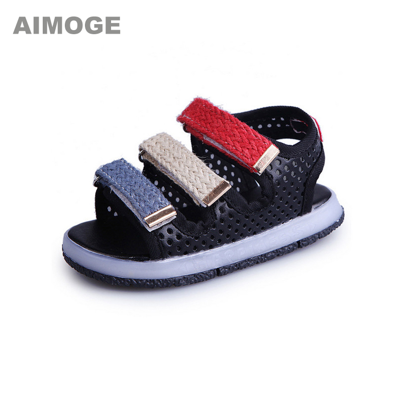 Kids Summer Sandals Boys Girls Baby Sandals LED Kids Shoes Lighting Casual for Toddler with LED Children Sandals Glowing Shoes