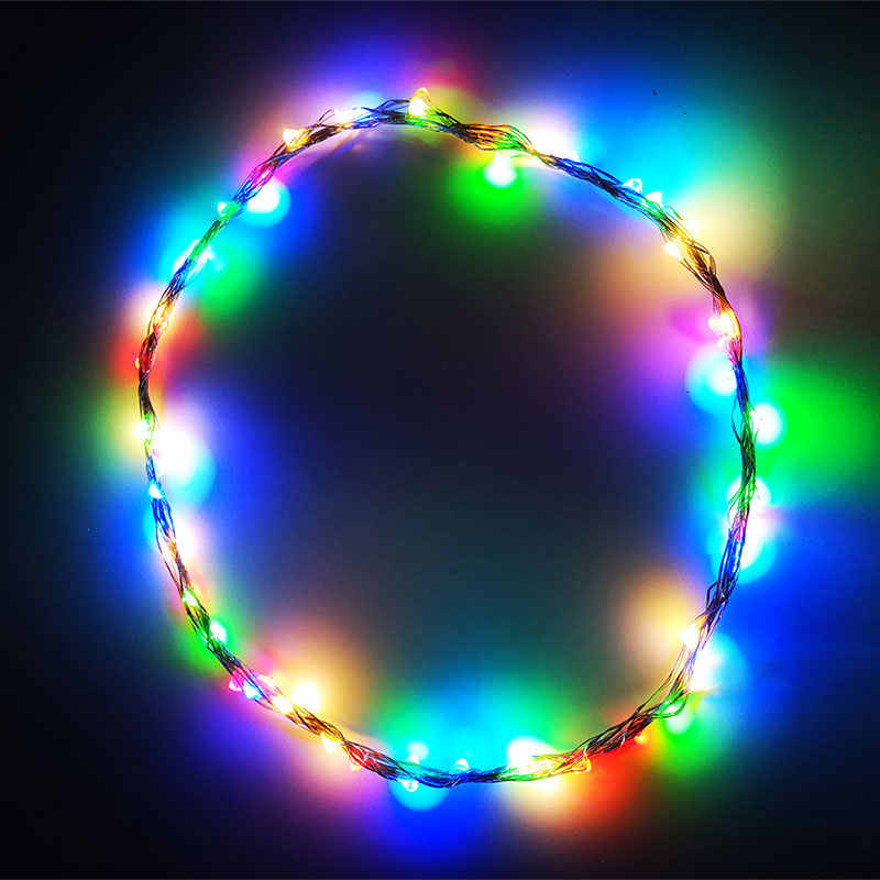 Christmas Fairy Lights Transparent.Silver Wire 50 100 Led Starry String Lights Fairy Micro Led Transparent Battery For Party Christmas Wedding 3 Colors