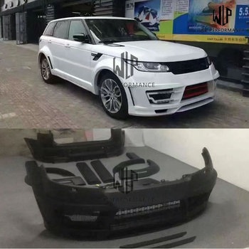 High quality FRP unpainted Wide Car body kit Front bumper Rear bumper Side skirts Round eyebrows For Range Rover Sport 14-17