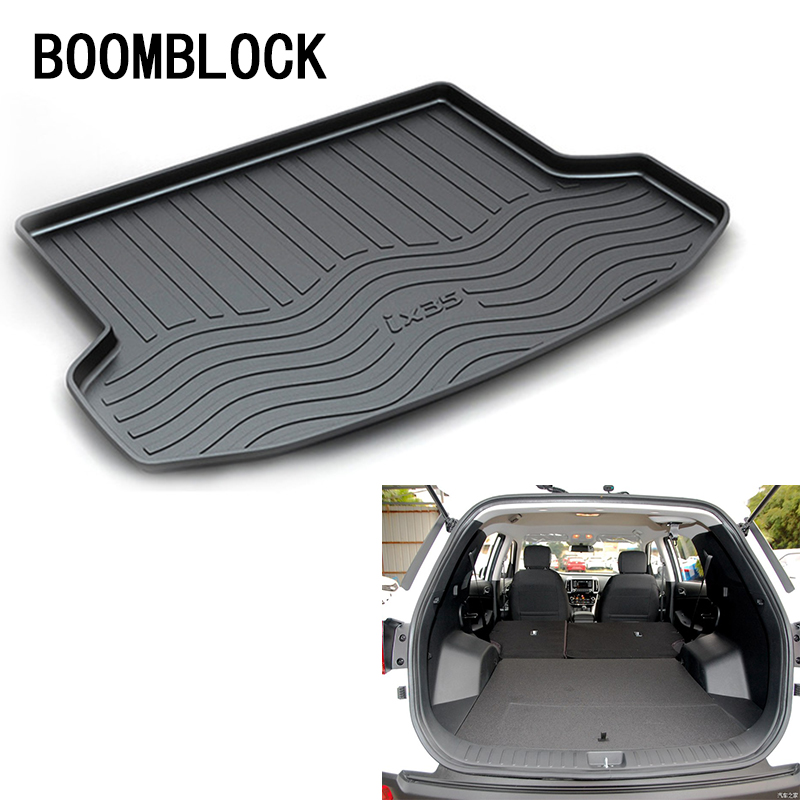 For Hyundai ix35 2010 2011 2012 2013 2014 2015 2016 2017 Waterproof Anti-slip Car Trunk Mat Tray Floor Carpet Pad Accessories for hyundai tucson 2006 2007 2008 2009 2010 2011 2012 2013 2014 waterproof anti slip car trunk mat tray floor carpet pad