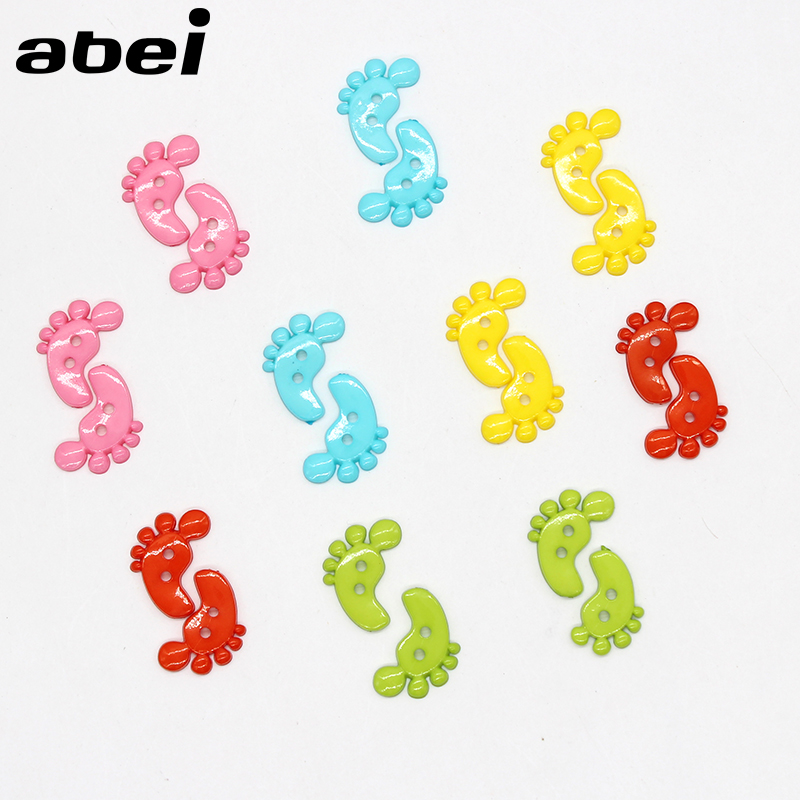 100pcs/lot Cartoon Plastic Buttons for Baby Kids Clothes Decoration Handmade button Craft DIY Scrapbooking Apparel Accessories
