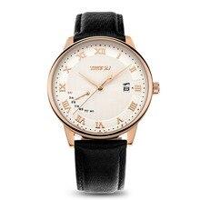 Time2u para hombre de negocios Formal ultrafino del reloj del cuarzo reloj de pulsera