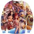 Новый стиль мультфильм микки маус утка clothing Kingdom Hearts 3D толстовка мужчины женщины персонажа из мультфильма с капюшоном вскользь толстовка