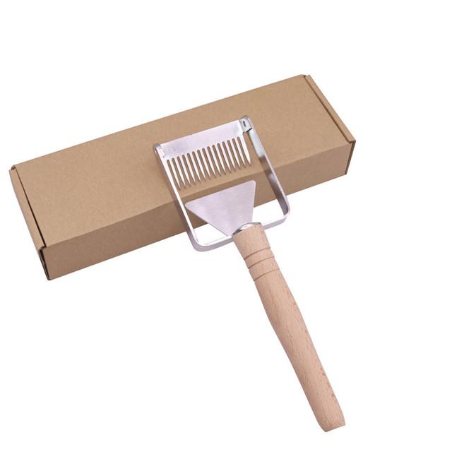 2 pcs/lot 2 in 1 Cut honey fork scraper Stainless steel Beekeeper Apiary Beekeeping tools Manual Scraper Honey harvesting fork