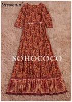 High Quality Hot Sale Summer Print Dress Women Sexy V Neck Holiday Dresses For Girls Cotton Empire Asymmetrical Dress Bohemian