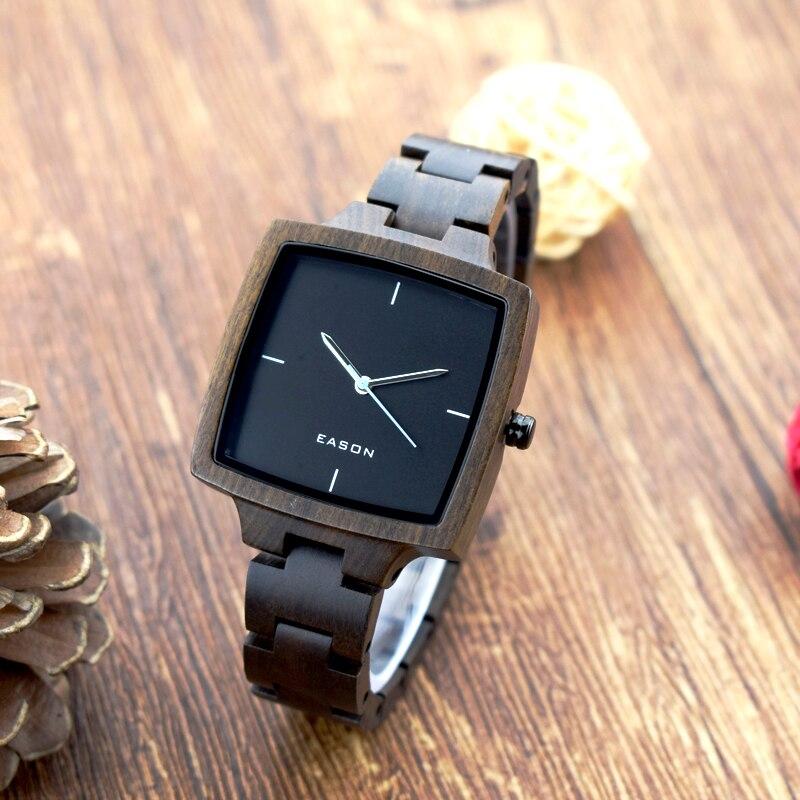 Handmade Fashion Wood Watches Top Brand Designer Mens Wood Watch Black Sandalwood Wooden Quartz Watches for Men цена