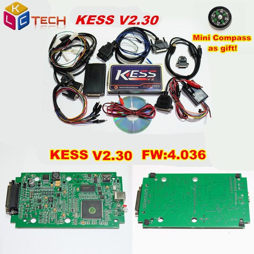 Prix pour Meilleur Et le Plus Récent KESS ECU Programmeur V2.32 Firmware V4.036 KESS V2 OBD2 Tuning Kit Aucun Jeton Limitation Mise À Jour par CD