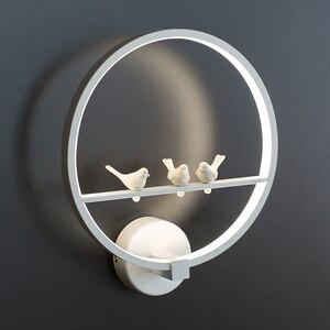 Современный настенный светильник акриловый светодиодный настенный прикроватный бра круглой формы теплый белый светодиодный светильник д...