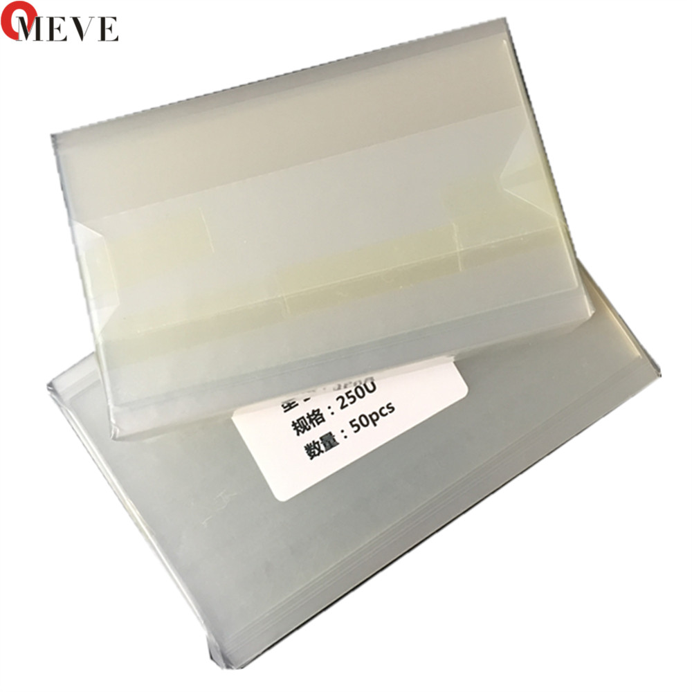 500pcs DHL For Mitsubishi OCA Optical Clear Adhesive Glue Film Double Side Sticker for iPhone 5G