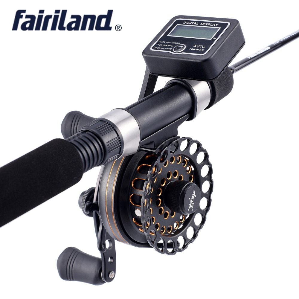 Digital raft reel VK60 6BB gear ratio 2.6:1 metal gear Left/Right hand raft fishing reel fly ice fishing reel with line counter number machine 7 position automatic numbering machine into the number coding page chapter marking machine digital stamp