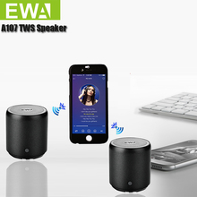 ลำโพงบลูทูธ EWA A107 MP3 Player สำหรับโทรศัพท์/แท็บเล็ต/PC Mini ลำโพงไร้สายบลูทูธ TWS ลำโพงพกพาขนาดเล็ก