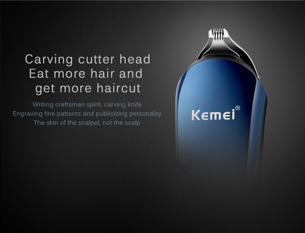 Kemei KM-550 Rechargeable 8 in 1 Hair Trimmer 10