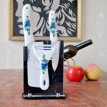 Supply Jingdezhen Ceramic high antibacterial knife 3 Set kitchen knife peeler nano bone china 18070