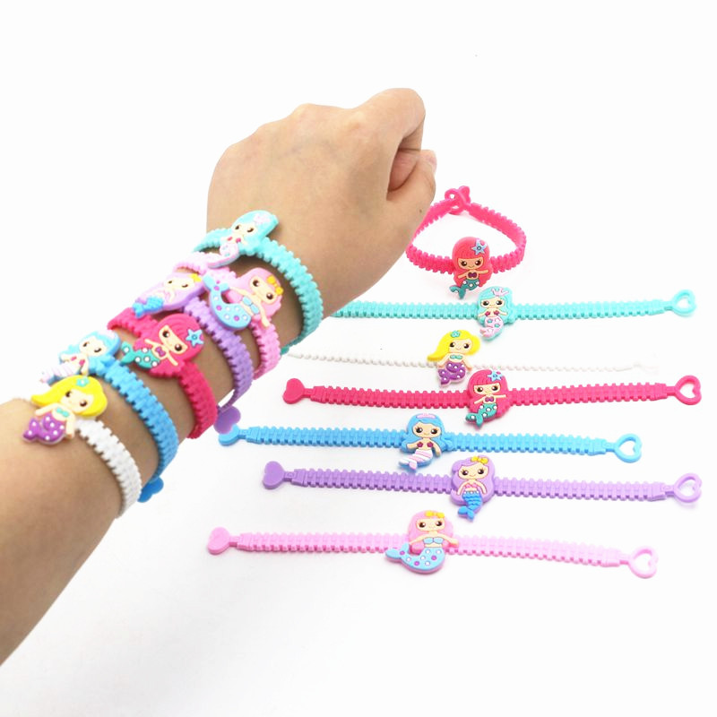 Flamingo Mermaid Party Decoration Rubber Bracelet Baby Shower Hawaii Birthday Party Decorations Kids Wedding Event Party Favors