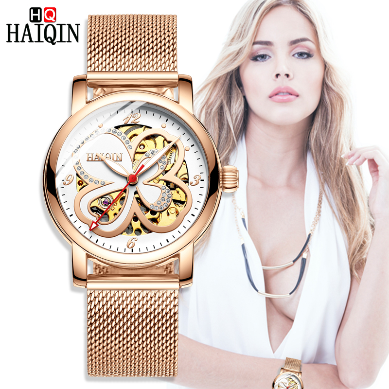 HAIQIN women s watches women watches top brand luxury sport wrist watch Ladies mechanical watch Fashion