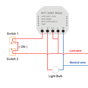 Image 2 - Tuya smart WiFi switch module turn your old switch into smart , compatible with alexa , google home ,IFTTT , timer switch module