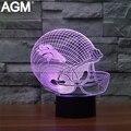 NFL Denver Broncos LOGOTIPO Da Equipe Candeeiro de Mesa de Toque 7 Cores Em Mudança/Minnesota Vikings/New York Jets Luz Sono acrílico USB 3D LED