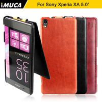 Case For Sony Xperia XA IMUCA Luxury Flip Leather Case Cover Pouch For Sony Xperia XA