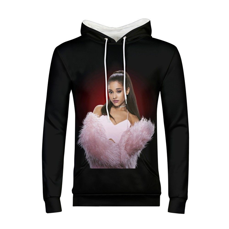 Sweat à capuche pour homme Mode Célèbre Étoile Ariana Grande 3D Impression À Capuche pull sweat à capuche sweatshirt Manches Longues décontracté À Capuche Costume
