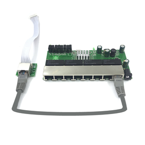 Image 4 - 8 port Gigabit switch module is widely used in LED line 8 port 10/100/1000 m contact port mini switch module PCBA Motherboard