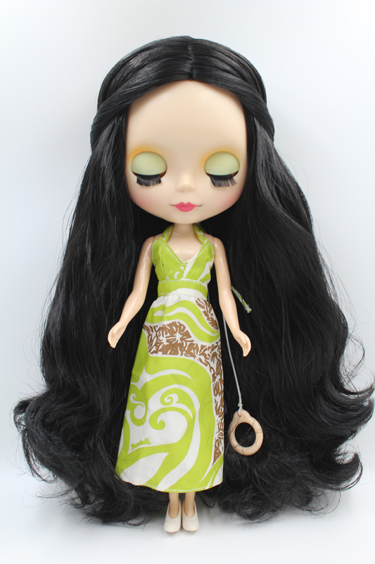 Free Shipping big discount RBL-317M DIY Nude Blyth doll birthday gift for girl 4colour big eye doll with beautiful Hair cute toy free shipping nude blyth doll black4 hair big eye doll for girl s gift pjb004