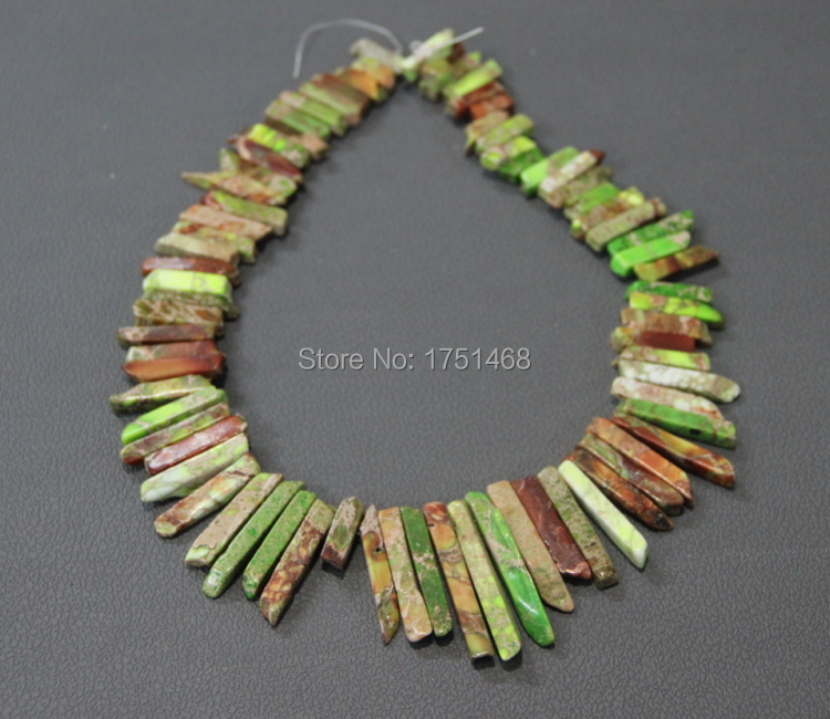 Natural Green Sea Ocean Sediment Imperial Emp Slice AAA Quality Top Drilled Point Pendant Accessories Jewelry for Fashion Ladies
