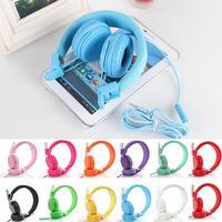 Nuovo 3.5mm cablato fascia 10 colori per bambini Extender cuffie auricolari coassiali eleganti auricolari per Tablet iPad Smart phone